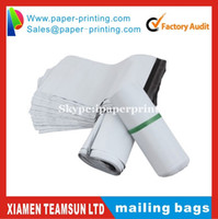 Wholesale 12 wire thickness cm x cm white black Poly Mailing bags Plastic Envelope Express bags white courier bags
