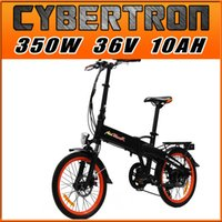 Wholesale Addmotor CYBERTRON E bike C350 Platinum Orange Folding Electric Bike Luggage Rack Shiman0 Speed W V AH quot Electric Bicycle