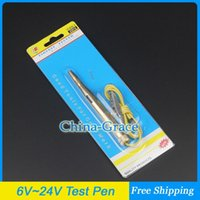 Wholesale New Copper DC V V V AUTO Voltage Tester Test Pen For Car Motorcycle Circuit Repair Tools