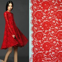 Wholesale Floral Embroidered Eyelash Lace Fabrics Polyester African Guipure Cord tissue tecido Sewing Supplies for Cloth Dress yard C11