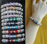 Wholesale Statement bracelets glass crystal European troll beads charms bracelet November NEW fashion sterling silver charm bracelet