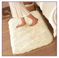 Wholesale 40 cm SHAGGY super soft carpet floor rug area rug slip resistant bath mat kids rug for living room