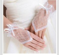 Cheap New Dew finger Short Lace Bridal Wedding Dresses Gloves Accessories