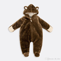 animal body warmers - 0 M Toddler Baby Boys Girls Thicken Bear Leopard Jumpsuit Pink Bow Knot Infant Clothes Winter Warm Clothing Body Suit