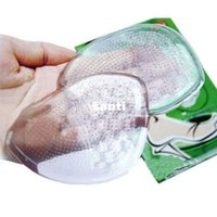 Wholesale 1 Pair Of Woman Ladies Girls New Clear Gel Silicone Cushion High Quality Soft Shoe Pads Insoles Inserts Foot Care