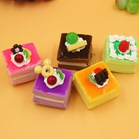 Wholesale cm mini squishy cake with fruit mix color order slow rising squishies handmade DIY Christmas gift cheap