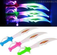 Wholesale Children s electric music LED flash knife swords toys plastic lighted toys