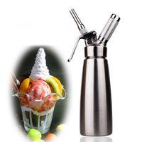 Wholesale 1000ML High Quality Desert Tools Full Shinny Gift Stainless Steel Cream Whipper
