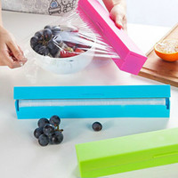 Wholesale HOT High Quality Fashion Candy Color Stainless Steel Food Wrap Cutter Plastic Food Wrap Boxes