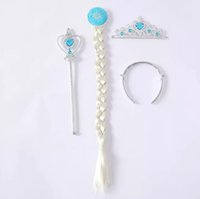 Wholesale Sample order one piece Cosplay Ornaments Magic Wand Rhinestone Elsa Crown HairBand Hairpiece Girls Wig YY3064