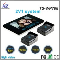 2.4Ghz Wireless video door phone - Saful GHz Inch Touch Key Wireless Video Door Phone with One Indoor Monitor and Two Outdoor Cameras