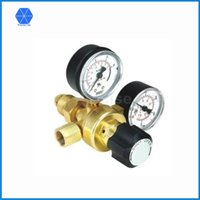 arc welding copper - Male Argon gas welding regulator twin gauge single stage Forged copper CO2 Argon regulator for shielded arc