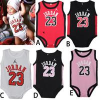 newborn vests - Baby romper Jordan sports clothes Vest climb clothes jumpsuit boys girls rompers baby one piece clothing newborn clothes baby clothes