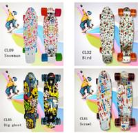 Wholesale Top Quality New Style Adult Peny Board Banana Skateboard Board inch Single Rocker Graffiti Skate Board