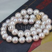 akoya pearl necklace free shipping - gt gt gt AAAA Perfect round mm white Japanese akoya sea water pearl necklace k gold