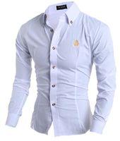 Wholesale spring men shirt fashion clothing casual tops lapel slim fit outerwear men long sleeve shirts colors shirts hot sall