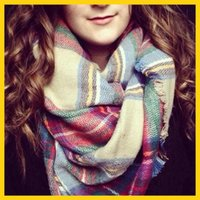 Wholesale Collinss NEW Amazing New Arrival Wool Blend Blanket Oversized Tartan Scarf Wrap Shawl Plaid Checked Pashmina