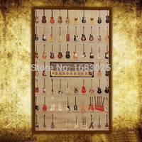 band hero music - Large Vintage Style Kraft Wall Retro Guitar World Music Hero Rock band Paper Poster Gifts Home Decoration x Inch x46cm