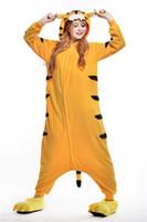 adult tiger pajamas - Classy Tiger Kigurumi Pajamas Animal Suits Cosplay Outfit Halloween Costume Adult Garment Cartoon Jumpsuits Unisex Animal Sleepwear