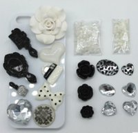 Resin For Apple iPhone  Fashion 3D Bling white lips DIY Cell Phone iPhone4,4s,5s,samsung s5 Case - Deco Den Kit