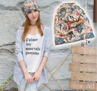 Wholesale 15 Pattern New Big Girls Europe Bandanas Women Fashion Printing Cotton Caps Ladies Head Accessories Maternity Hats Cap H3310