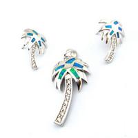 Wholesale opal jewelry with cz stone fashion opal jewelry set Mexic0an fire opal jewelry set The latest fashions OS001A