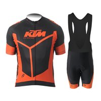 Wholesale 2015 KTM Black Red Pro Cycling Jersey Bicycle Clothing Short Sleeve bib Shorts Quick Dry Breathable Ropa Ciclismo