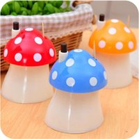 Wholesale Wholesales Creative home cute Mushroom Automatic toothpick box PVC Toothpick Holders practical Novel good