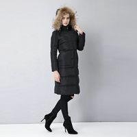 warm up jackets - UPS Majolena Women s Winter Slim Warm Down Parka Jacket Coat With Fox Fur Hood S XL
