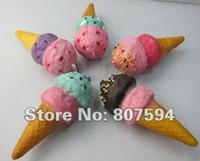 Al por mayor-Nuevo helado de Kawaii encanto blando / Squishies / Clave de la cadena / correa del teléfono móvil / cadena / de la joyería de piel colgante bolsa de cordón JC7