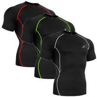 Wholesale Original Brand Running Short Sleeve T shirts Mountain Bike Men Cycling Jersey Fitness Compression Jackets T shirt