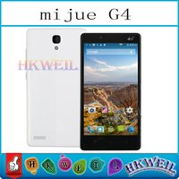 g4 cell phone - MTK6582 Quad Core Inch Mijue G4 Cell Phone ROM GB RAM GB Dual SIM Card Android G WCDMA Smart Phone