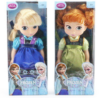 Wholesale 2pcs Animators Collection Frozen Elsa Anna Princess Plastic Toy Doll PVC Action Figure Dolls Toys Gifts