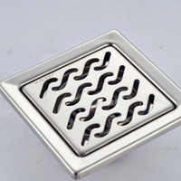 Wholesale And Retail Polished Chrome Bathroom Floor Drain Square Ground Leakage Shower Grate Waste