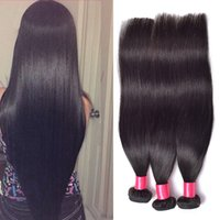 Wholesale Straight Peruvian Human Hair Bundles Inch Natural Black Color Dyeable Grade A Peruvian Straight Hair Extensions
