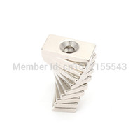 Wholesale 10pcs x10x3mm Countersunk Magnets Block Neodymium N35 Rare Earth mm Hole order lt no track