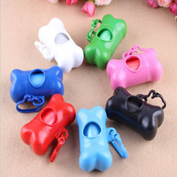 Wholesale New Eco friendly Bones Type Pet Waste Bags Dog Puppy Outdoor Convenient Bag Pets Pooper Scoopers Waste Case