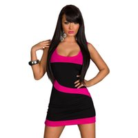 army pubs - New Arrival Europe Fashion Patchwork Sexy Dress Hot Sleeveless Sundress Pub Bar Mini Party Dress