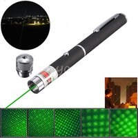 Wholesale car Hot Sale High Quality Powerful In NM Green Ray Beam Light Laser Pointer Pen with mw Star Cap Head