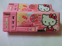 automatic pencil box - Hellokitty multifunctional double layer pencil case fully automatic stationery box stationery box pencil case