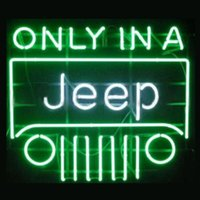 arts jeeps - New T17 ONLY IN A JEEP beer bar neon signs quot x14 quot for indoor outdoor display party lights advertising art