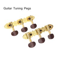 Wholesale Stylish and Pretty Guitar Tuning Pegs Machine Heads Tuner Caving Gold Plating Guitar Parts Accessories Retail