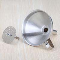 Wholesale Hot Inch Stainless Steel Funnel With Detachable Strainer Kitchen Tools Funnels