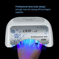 großhandel ccfl light-Einzigartiges Design UV LED CCFL Nagellampe 48w für Nagel Gel Trockner Aushärtung polnischen Werkzeug Nagel Kunst UV-Lampen Lager in US / DE