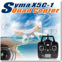 Big Kids White Plastic EP pioneer Improved Version SYMA X5C-1 2.4Ghz 6-Axis Gyro Remote Control RC Helicopter Explorers Quadcopter Toys Drone with HD Camera