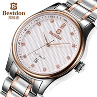 affordable automatic watch - Bestdon affordable luxury brand men full steel watch self wind automatic mechanical watches best designer wristwatch