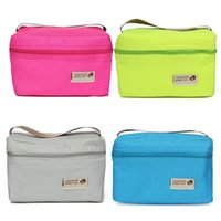 Wholesale x Colors Travel Outdoor Picnic Lunch Box Organizer Bento Lunch Carry Bag Insulated Cooler Bag
