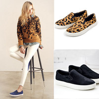 Wholesale Fashion Women Shoes Loafers Slip On Sneakers Comfy Flats Preppy Faux Calf Hair