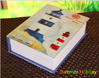 beach house furniture - Creative Wooden Doll House Summer Vacation Beach Sea Journal Diary Book Fanny DIY Dollhouse with Furniture