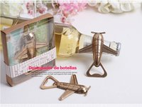 airplane party invitations - 20pcs New Arrival vintage Airplane Bottle Opener Wedding Favors Bridal Shower Party Favors Guest Gift Airplane Corkscrew